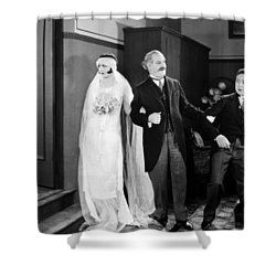 His Marriage Wow, 1925 Shower Curtain by Granger