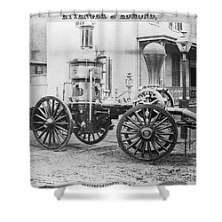 Historic Fire Engine Shower Curtain by Omikron