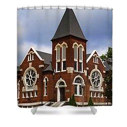Historical 1901 Uab Spencer Honors House - Birmingham Alabama Shower Curtain by Kathy Clark