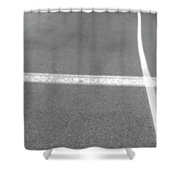 Hitch Hiker Shower Curtain by Empty Wall