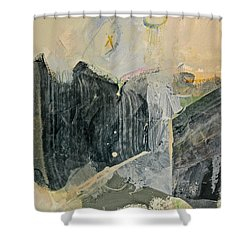 Hits And Mrs Or Kami Hito E  Detail  Shower Curtain by Cliff Spohn