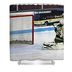 Hockey Nice Catch Shower Curtain by Thomas Woolworth