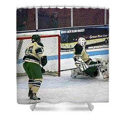 Hockey Off The Pads Shower Curtain by Thomas Woolworth