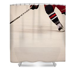 Hockey Stride Shower Curtain by Karol Livote