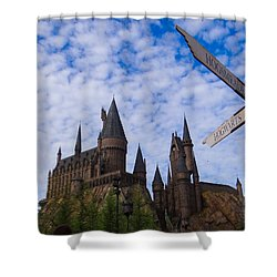 Hogwarts Castle Shower Curtain by Julia Wilcox