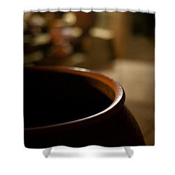 Holding Shower Curtain by Mike Reid