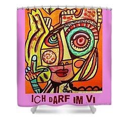 Hole In My Head - Yiddish Shower Curtain by Sandra Silberzweig