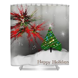 Holiday Card 2011a Shower Curtain
