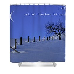 Holiday Greetings Shower Curtain by Sabine Jacobs