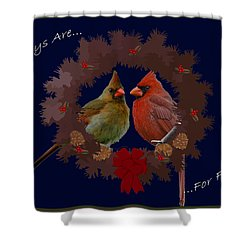 Holidays Are For Family Shower Curtain by DigiArt Diaries by Vicky B Fuller