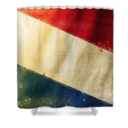 Holland Flag Shower Curtain by Setsiri Silapasuwanchai