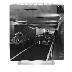Holland Tunnel, Nyc Shower Curtain by Photo Researchers