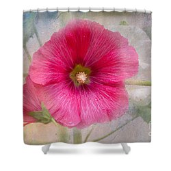 Hollyhock Shower Curtain by Lena Auxier