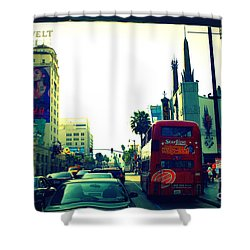 Hollywood Boulevard In La Shower Curtain by Susanne Van Hulst
