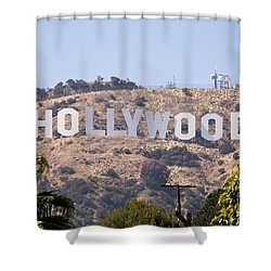 Hollywood Sign Photo Shower Curtain by Paul Velgos