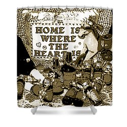 Shower Curtain featuring the photograph Home Americana Style by Pamela Hyde Wilson