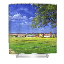Home Field Shower Curtain by Anthony Rule