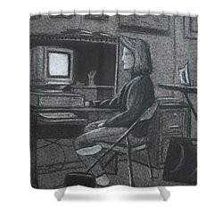 Home Office Shower Curtain by Stacy C Bottoms