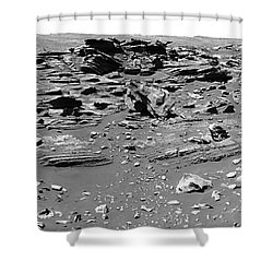 Home Plate, Mars Shower Curtain by Nasa