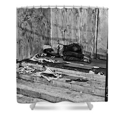 Homeless Shower Curtain by Paul Ward