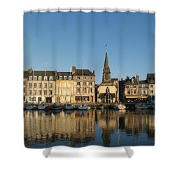 Shower Curtain featuring the photograph Honfleur  by Carla Parris