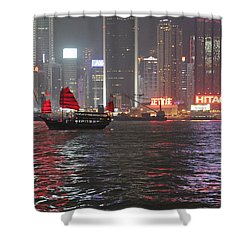 Shower Curtain featuring the photograph Hong Hong by Milena Boeva