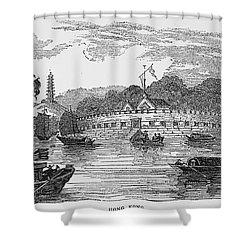 Hong Kong: Harbor, 1842 Shower Curtain by Granger