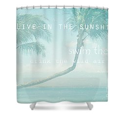 Hono Kai Makani A Kai  Shower Curtain by Sharon Mau