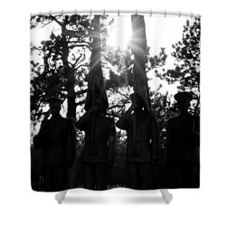 Honor Thy Country Shower Curtain by Colleen Coccia