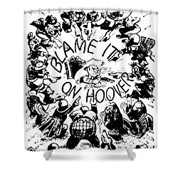 Hoover Cartoon, 1931 Shower Curtain by Granger