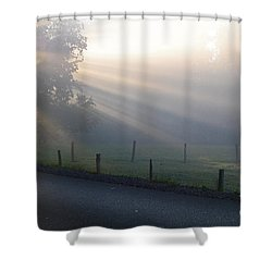 Hope Is In His Light Shower Curtain