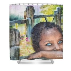 Hope Shower Curtain by Mo T