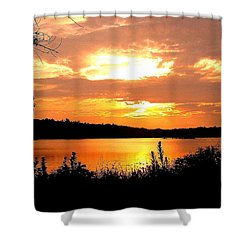 Horn Pond Sunset 2 Shower Curtain