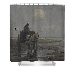Horse And Cart Shower Curtain by Evert Pieters