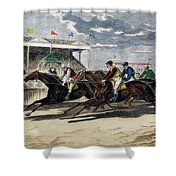Horse Racing, Ny, 1879 Shower Curtain by Granger