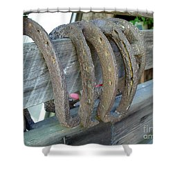 Horse Shoes Shower Curtain