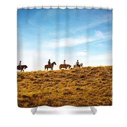 Horseback Riding Shower Curtain by Carlos Caetano