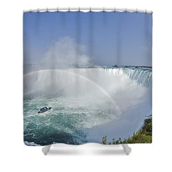 Horseshoe Falls And The Maid Shower Curtain by Darwin Wiggett