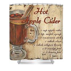 Hot Apple Cider Shower Curtain by Debbie DeWitt