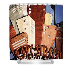 Hot City Streets Shower Curtain by Joan Carroll