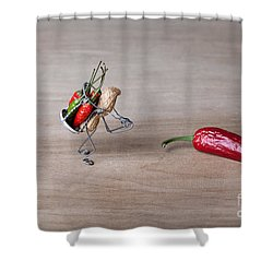 Hot Delivery 01 Shower Curtain by Nailia Schwarz