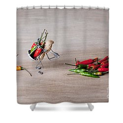 Hot Delivery 02 Shower Curtain by Nailia Schwarz