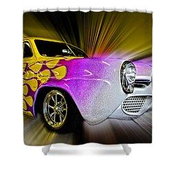 Hot Rod Art Shower Curtain by Steve McKinzie