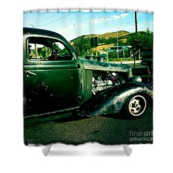 Hot Rod Shower Curtain by Nina Prommer