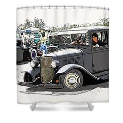 Hot Rod Show Trucks Shower Curtain by Steve McKinzie