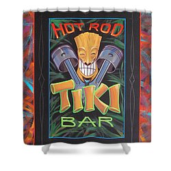 Hot Rod Tiki Bar Shower Curtain by Alan Johnson