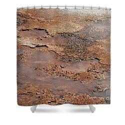 Hot Springs Abstract Shower Curtain by Sabrina L Ryan