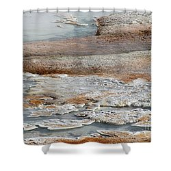 Hot Springs Abstract Two Shower Curtain by Sabrina L Ryan