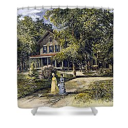 House, 19th Century Shower Curtain by Granger