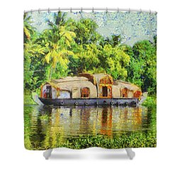 Houseboat Shower Curtain